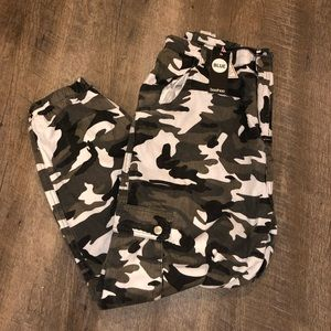 Grey/ green Camo cargo pants